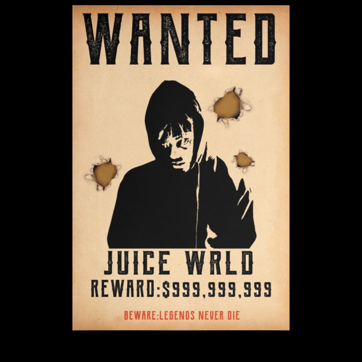 Juice Wrld Official Merch 999 Wanted Poster - Merchip8
